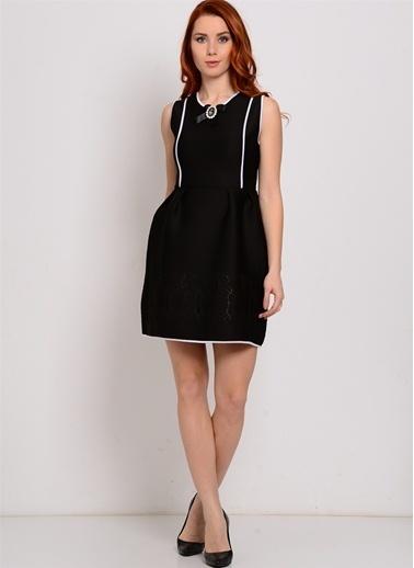 Zibi London Kolsuz Mini Elbise Siyah